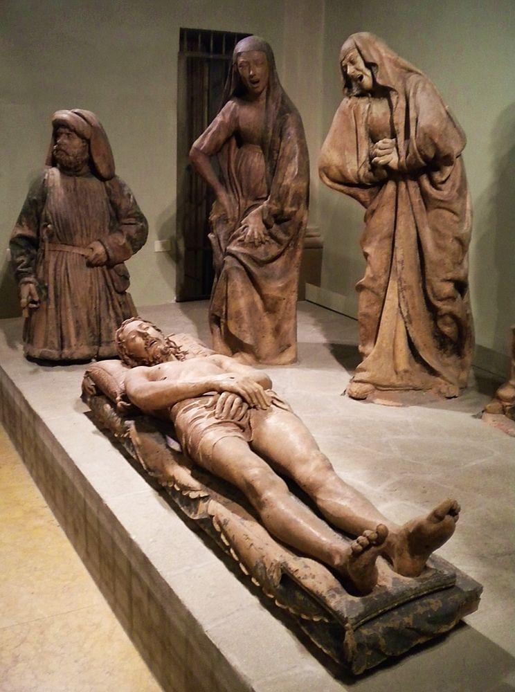 Part. del Compianto sul Cristo Morto, di Niccolò dell'Arca, 1463, Bologna, Chiesa di S. Maria della Vita- Ph. Rei Momo | Public domain