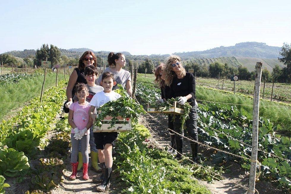Gruppo di ''ortisti'' nel grande Orto di Famiglia, a San Floro (Catanzaro) - Ph. Stefano Caccavari
