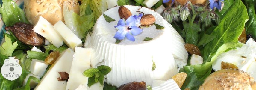 Insalata con formaggi ovo - caprini - Ph. ArcheoCuisine