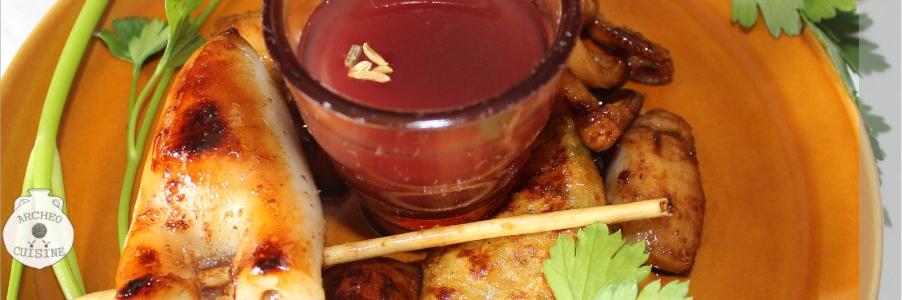 Calamari con salsa al garum - Ph. ArcheoCuisine