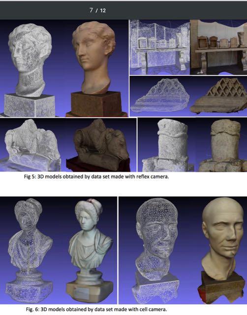 Elaborazioni in 3D di reperti archeologici del Museo Salinas di Palermo