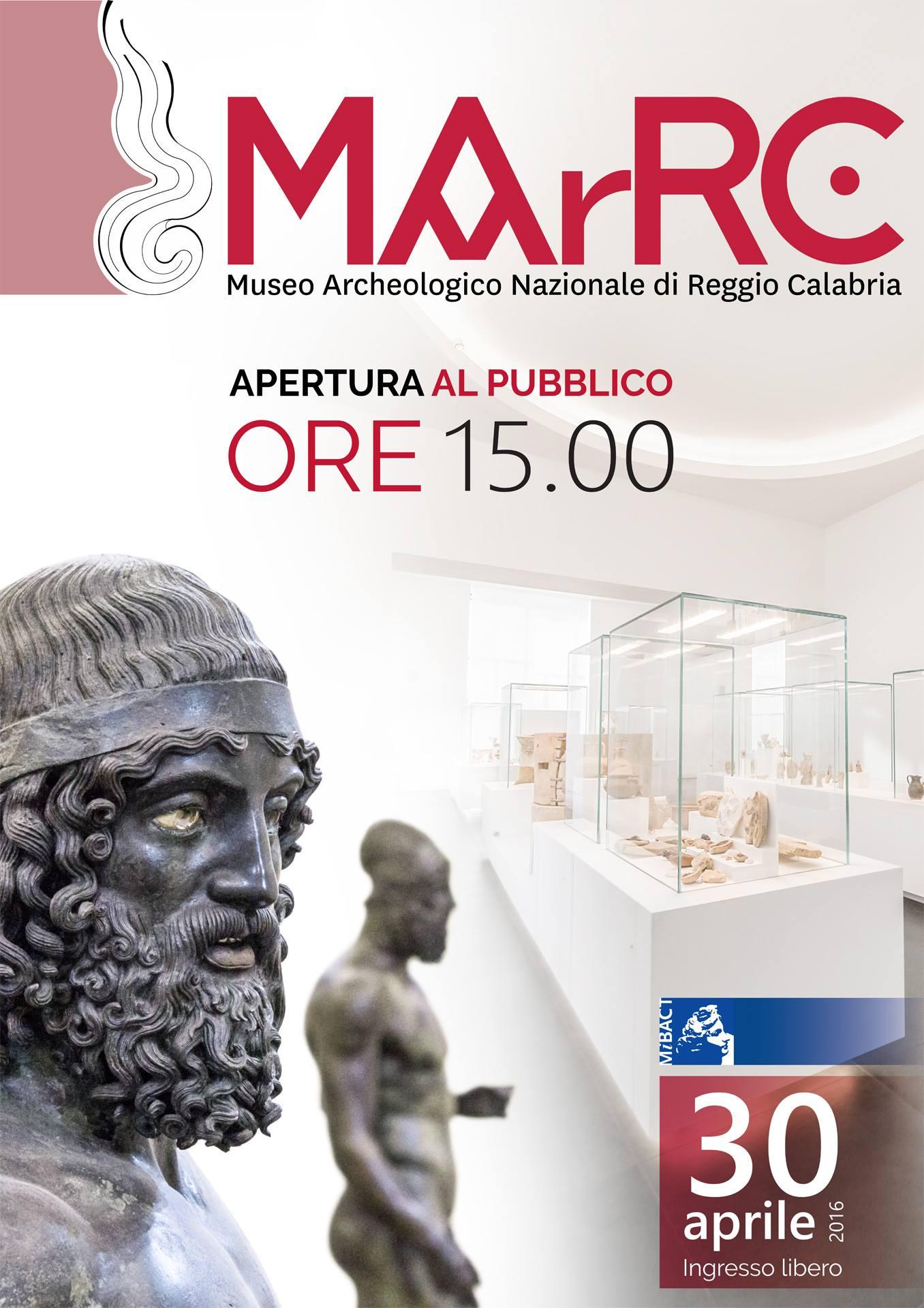 Il manifesto dedicato alla riapertura del Museo Archeologico Nazionale di Reggio Calabria