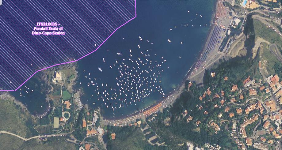 Immagine area della Baia di San Nicola Arcella - Italia Nostra