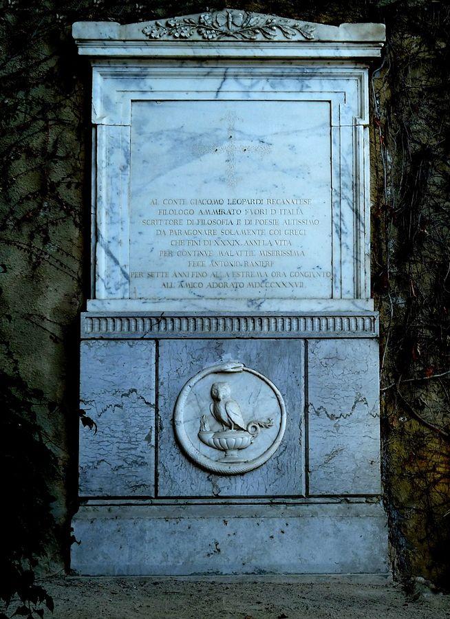 Epigrafe sepolcrale per Giacomo Leopardi, 1844, Parco Vergiliano, Napoli - Ph. Sergio Izzo   CCBY-SA4.0