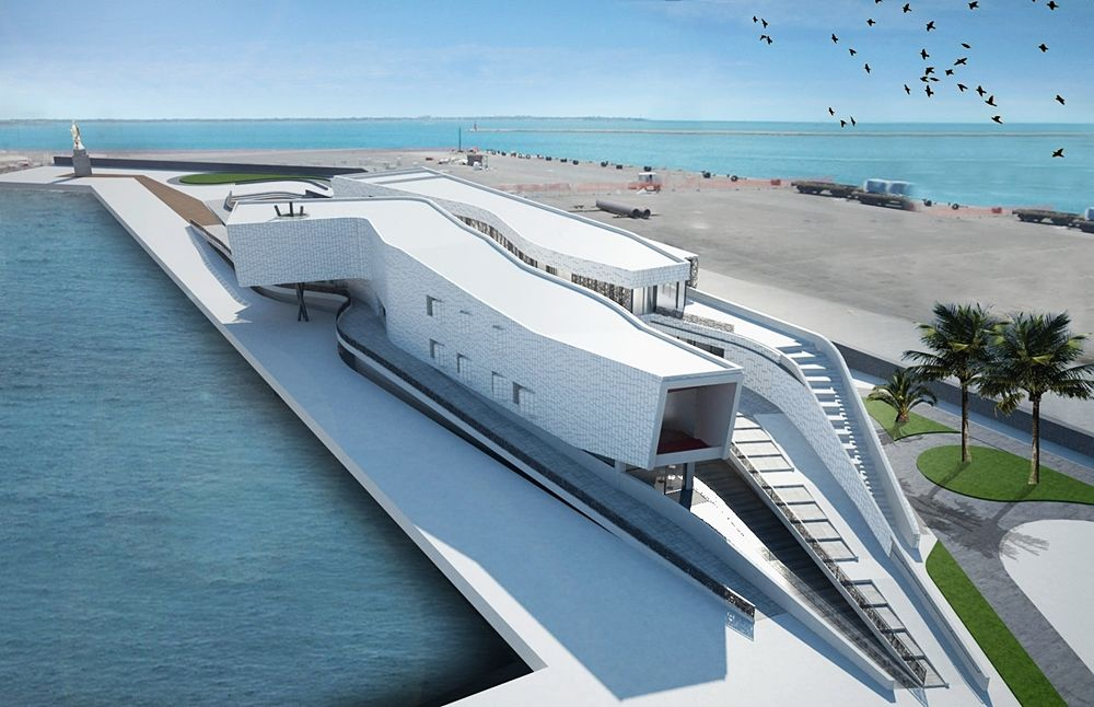 Progetto del Centro Servizi Polivalente FΛLΛNTO, in corso di realizzazione nel Porto di Taranto