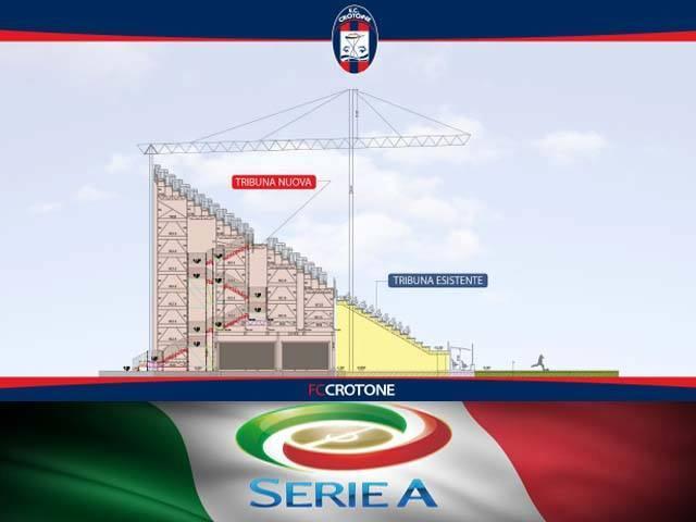 Progetto della nuova tribuna, Stadio Comunale di Crotone