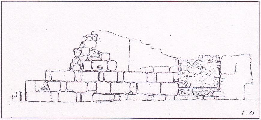 Crotone, muro bizantino, prospetto sud