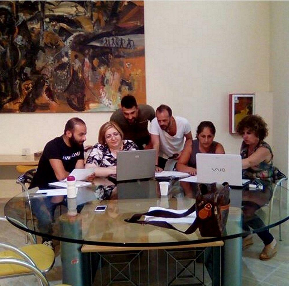 Sottile con gli organizzatori dell'evento