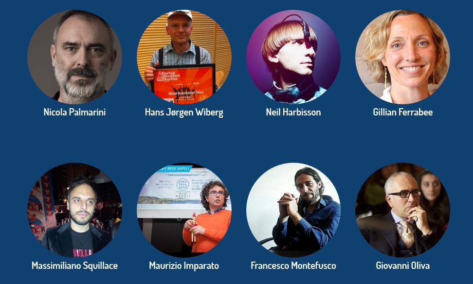 Alcuni degli speaker di HEROES, I° Euro-Mediterranean Coinnovation Festival