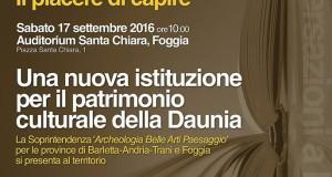 Nasce in Puglia la nuova Soprintendenza per il patrimonio culturale della Daunia. Incontro a Foggia