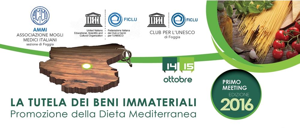 Primo Meeting per la Promozione della Dieta Mediterranea (Foggia, 14-15 ottobre 2016)