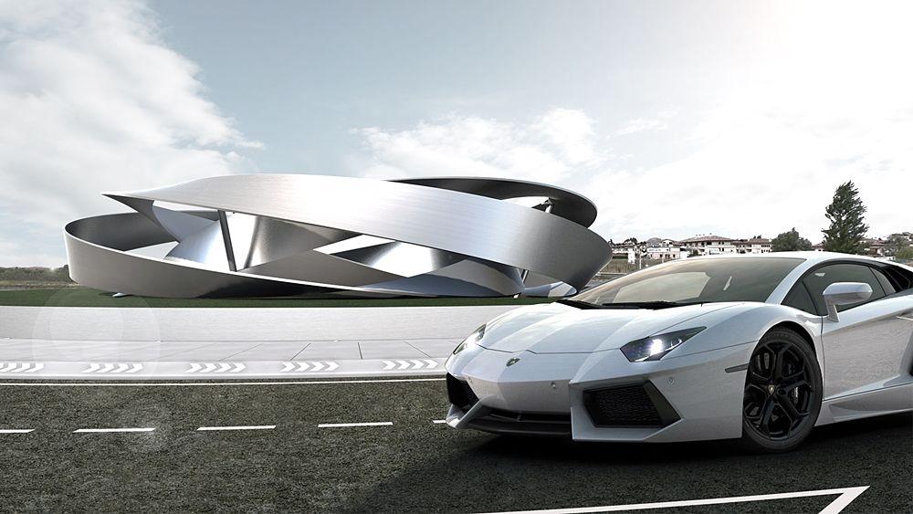 Elaborazione grafica del progetto di Enrico Pata per Lamborghini