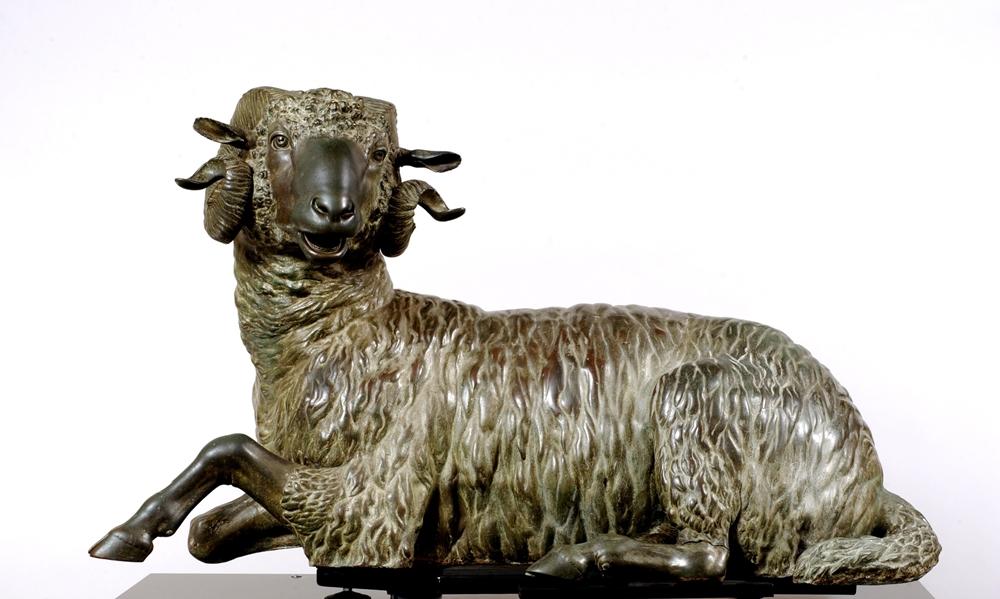 "Ariete bronzeo, ca. III sec. a.C. , Museo Archeologico Regionale ""A. Salinas"", Palermo"