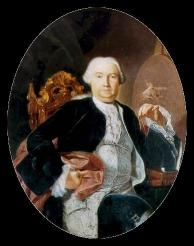 Luigi Vanvitelli, architetto della Reggia di Caserta, in un ritratto di Giacinto Diano, XVIII sec.