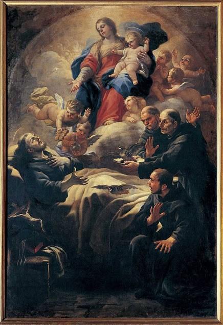 Luca Giordano, San Nicola da Tolentino e il miracolo delle pernici resuscitate, 1682 ca, Galleria Corsini, Firenze