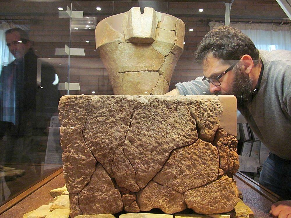 Torchio nuragico ritrovato a Monastir presso il Monte Zara (Sud Sardegna)