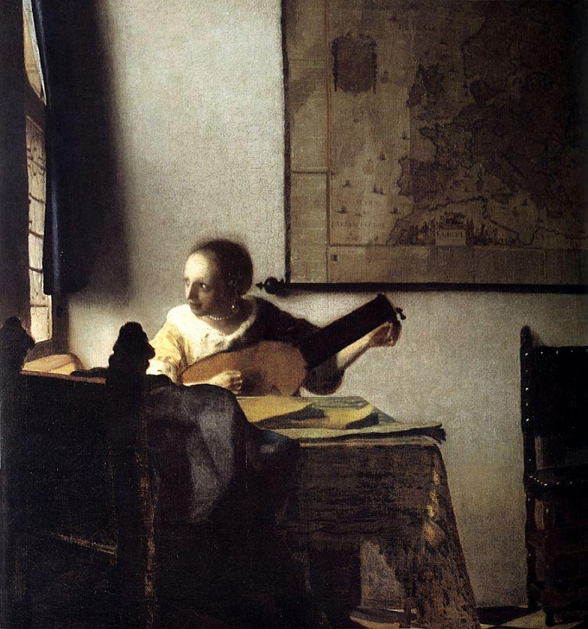 Jan Vermeer, Donna con il liuto, 1664, Metropolitan Museum, New York