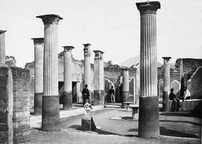 Pompei a inizio '900 - Ph. Giorgio Sommer