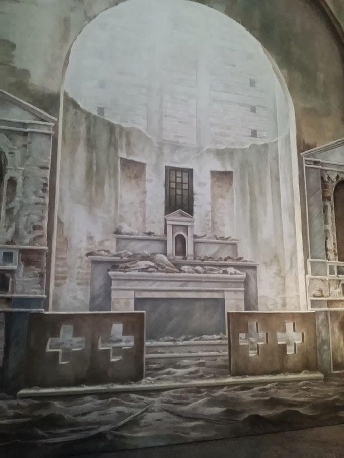 Domenico Fazzari_80mq di silenzio_2017_tecnica mista e terre su tela di cotone_m 10x8_dettaglio_opt
