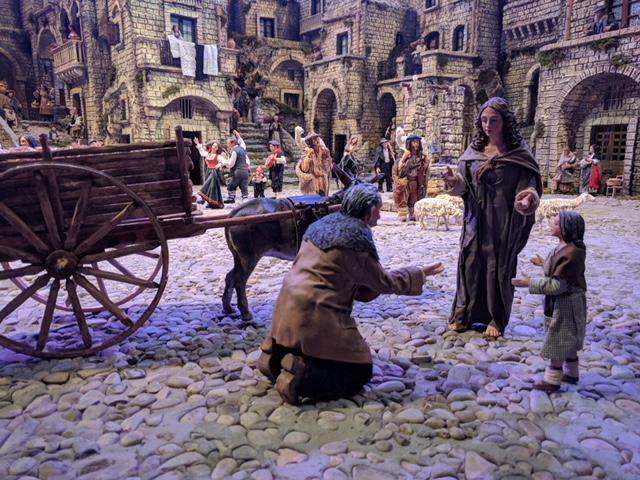 Scena con mendicante