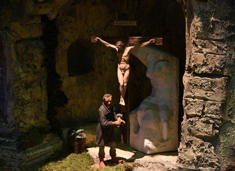 Michelangelo scolpisce il Crocifisso degli Agostiniani