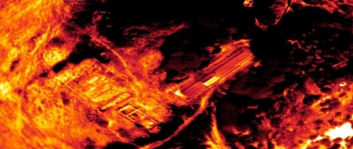 Immagine ottenuta con termocamera - Università di Camerino