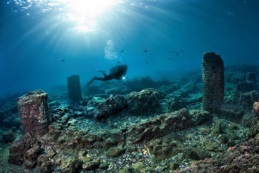 Resti archeologici sommersi - Ph. © Pasquale Vassallo