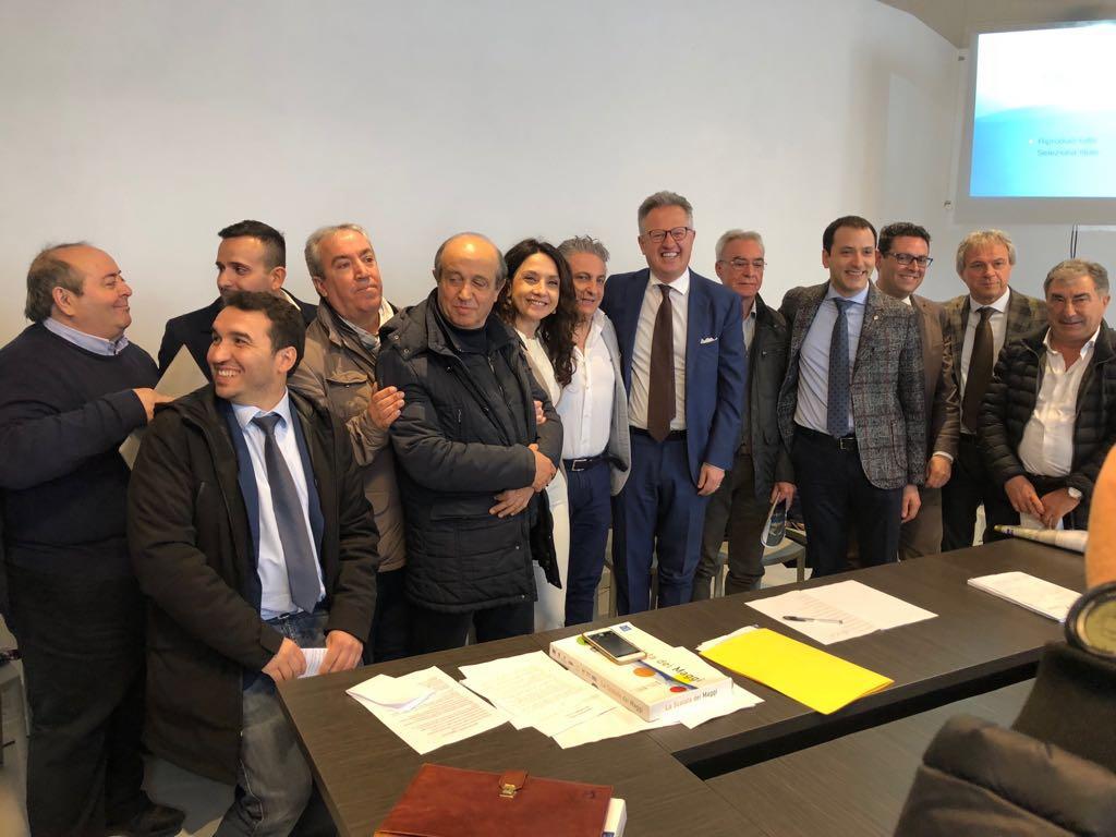I rappresentanti delle istituzioni che hanno firmato il protocollo