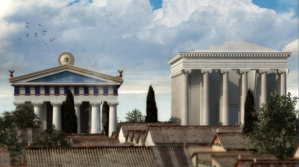 Scorcio di Siracusa magno-greca nella ricostruzione in 3D realizzata dall'IBAM IT Lab di Lecce  ©