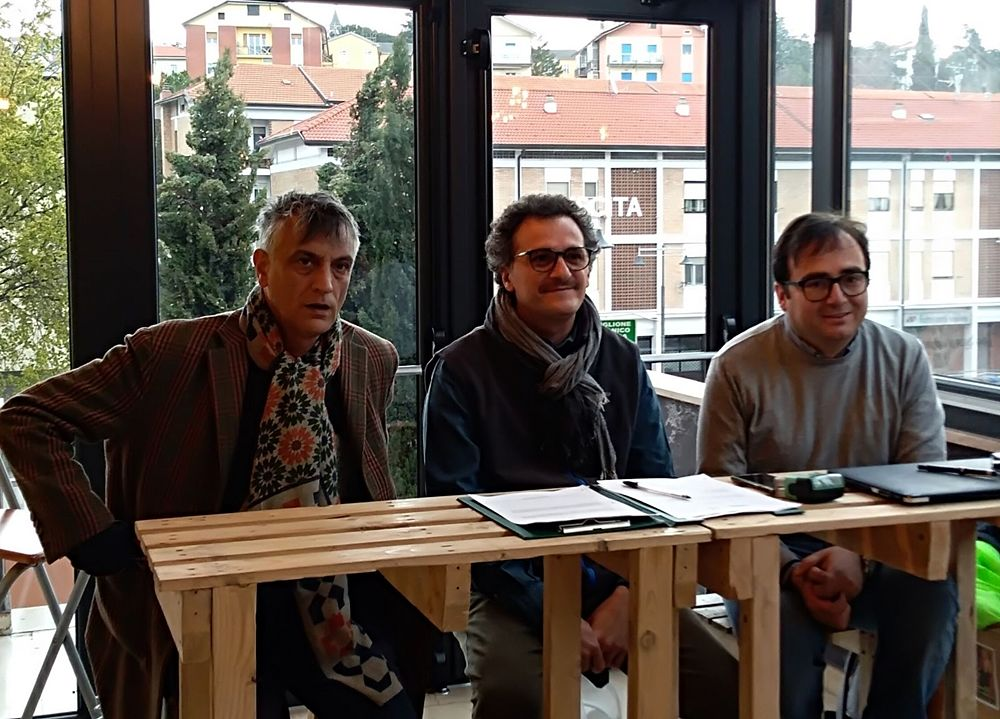 Da si. Paride Leporace (Lucania Film Commission), Antonello Faretta (Noeltan Film Sudio), Antonio Candela (Universosud)
