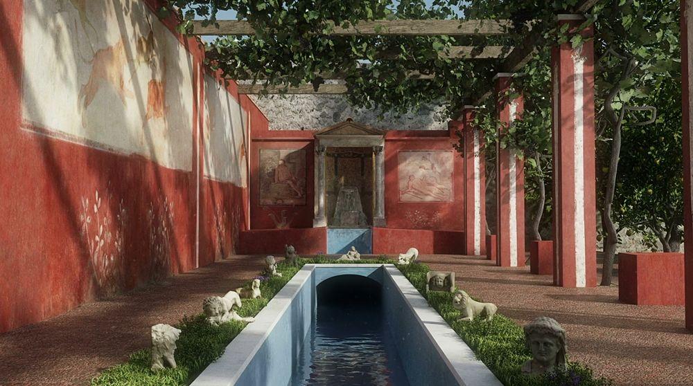 Scorcio del peristilium della Casa di Octavius Quartio - © IT Lab IBAM CNR, Lecce | I video nel testo