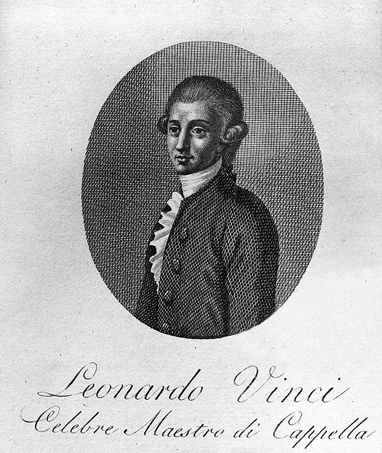 Il compositore calabrese Leonardo Vinci (Strongoli, 1690 - Napoli, 1730) in una incisione d'epoca