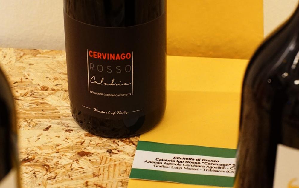 Cervinago Rosso Calabria, l'etichetta premiata al Vinitaly
