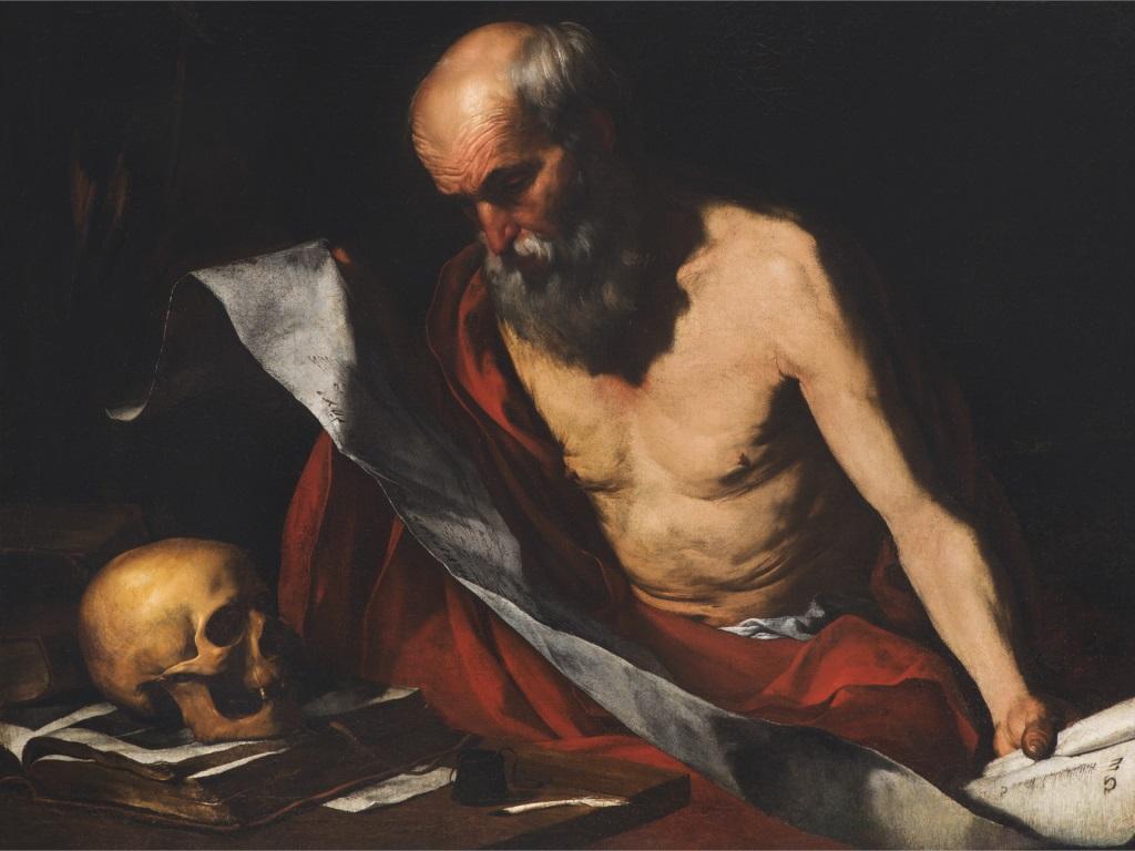 Hendrick van Somer, San Girolamo meditando le Sacre scritture, Metropolitan Cathedral Museum, Mdina, Malta
