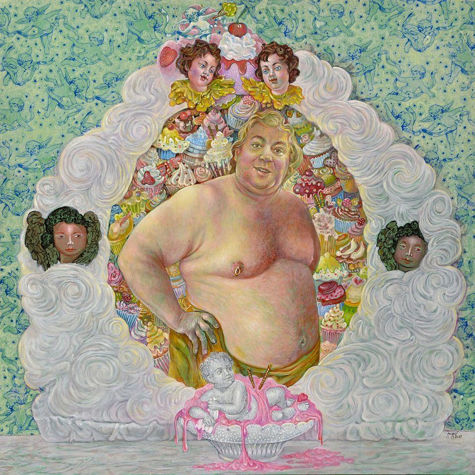 Momò Calascibetta, Cuore di panna, tecnica mistra, 2018