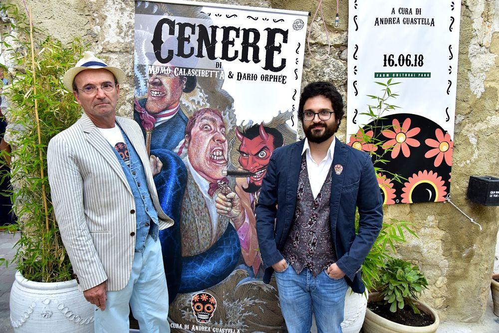 Da sin.: Momò Calascibetta e Dario Orphée, Farm Cultural Park, Favara (Agrigento)