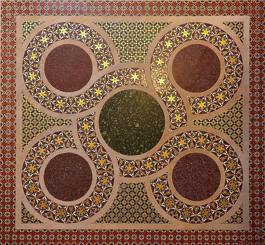 Mosaico in stile cosmatesco, Cappella Palatina, Palazzo dei Normanni, Palermo