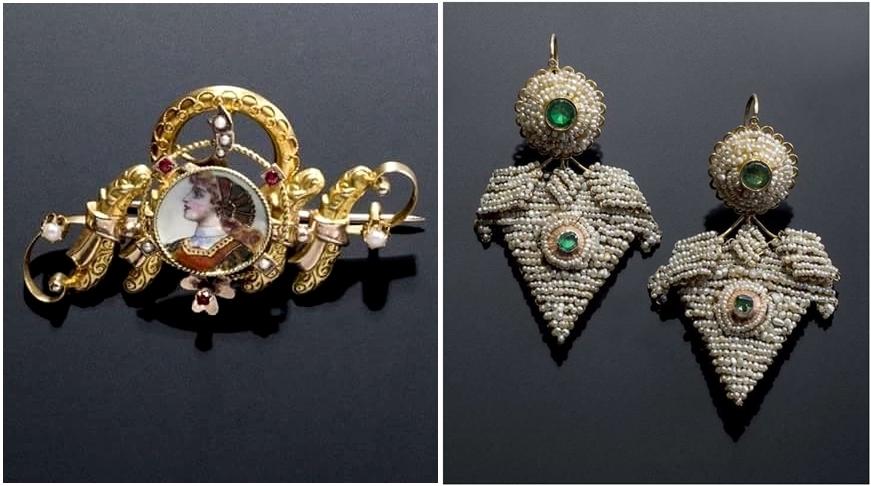 Alcuni degli antichi gioielli della Collezione Spadafora