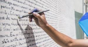 Fontamara: il capolavoro di Silone trascritto integralmente su un muro di Aielli