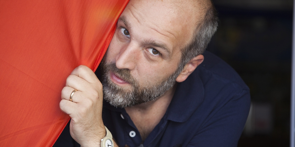 Lo scrittore Lorenzo Marone