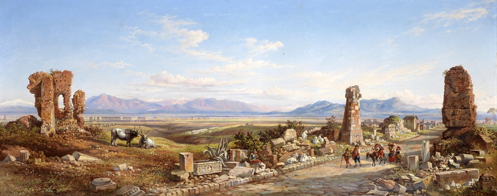 Arthur John Strutt, Viandanti sull'Appia antica, 1858