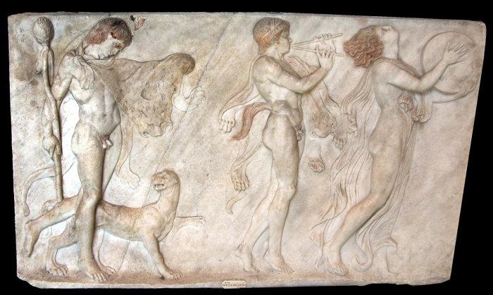 Corteo bacchico da Ercolano, bassorilievo in marmo, Museo Archeologico Nazionale, Napoli