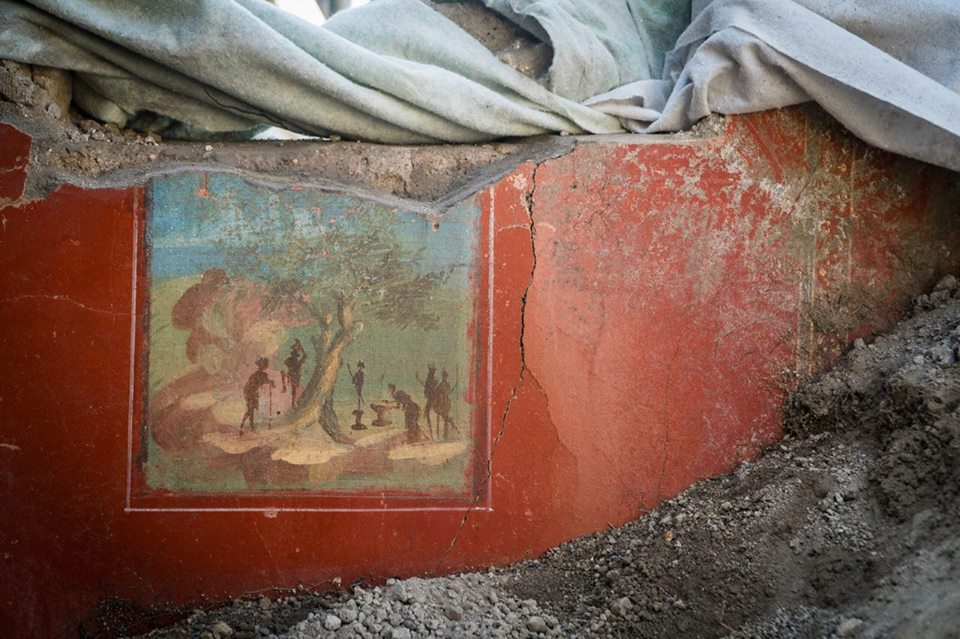 Pannello con scena rituale dalla Casa di Giove, II sec. a.C. - I sec. d.C., Pompei - Image by Parco Archeologico di Pompei' / Foto di Cesare Abbate