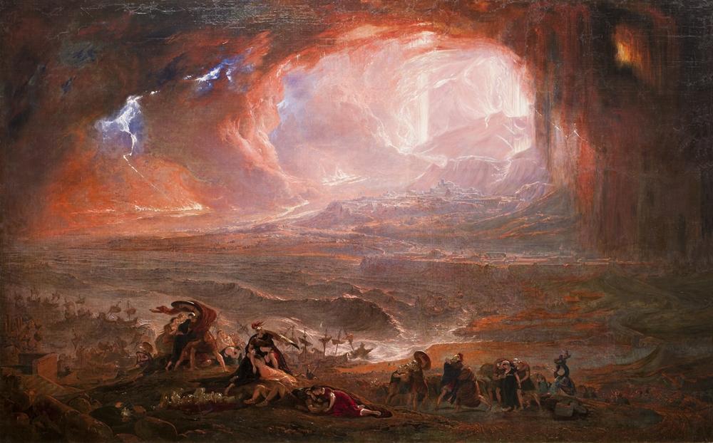 John Martin, The Destruction of Pompeii and Herculaneum, 1821 ca. - Tate Britain, Londra