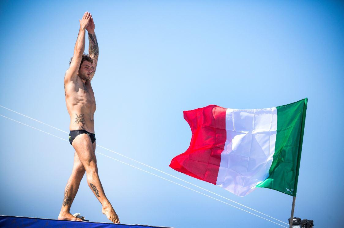 Alessandro De Rose, winner 2017, Red Bull Cliff Diving World Series, Polignano a Mare