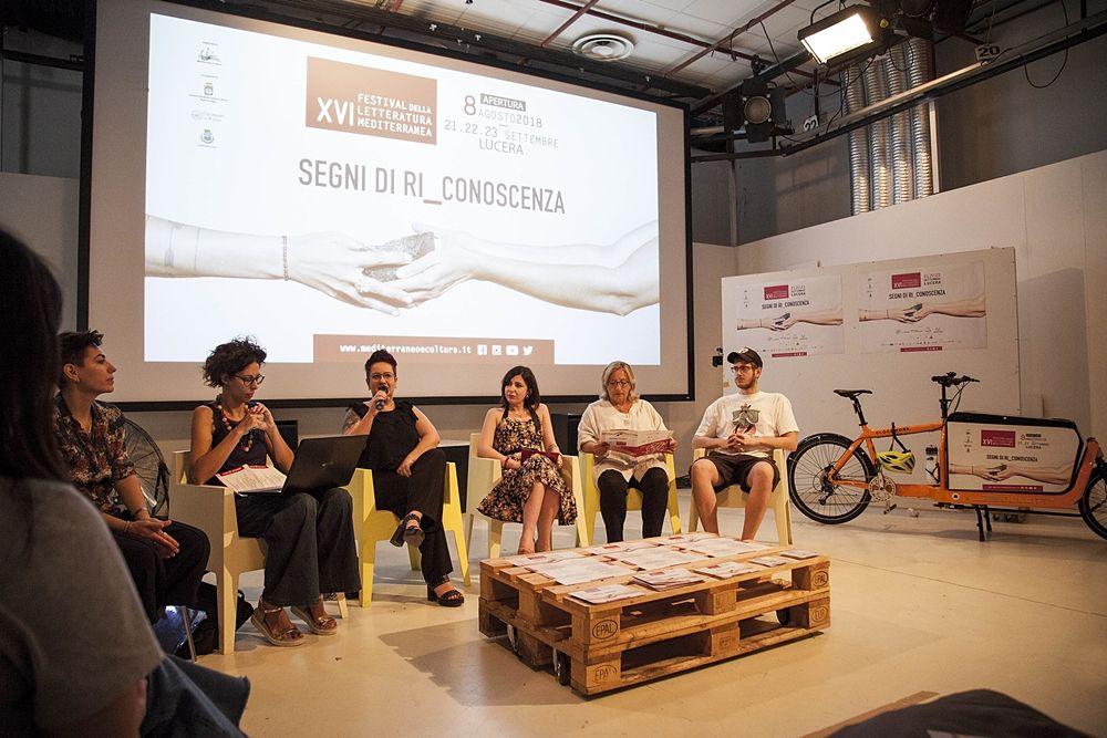XVI Festival della Letteratura Mediterranea, Lucara (Fg), un momento della conferenza stampa di presentazione