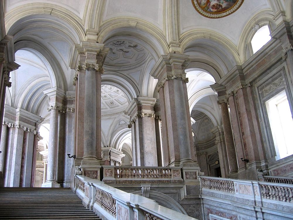 Part. dello Scalone Reale, Reggia di Caserta - Image source | ccby-sa2.0