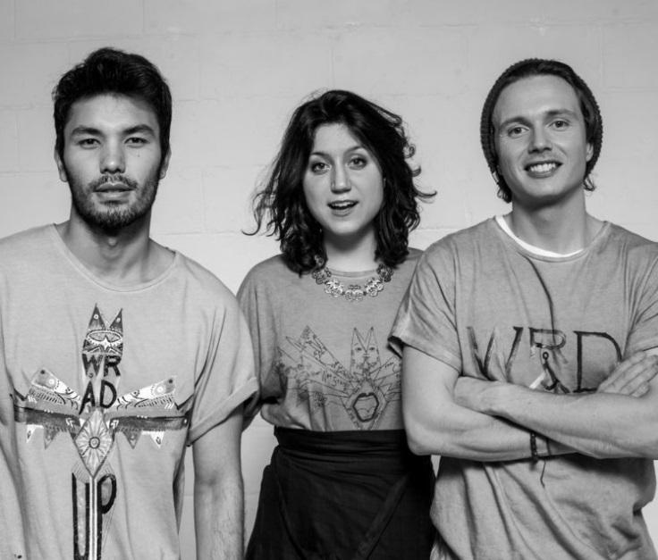 Da sin. Victor Santiago, Silvia Giovanardi e Matteo Ward, founders di Wrad Living