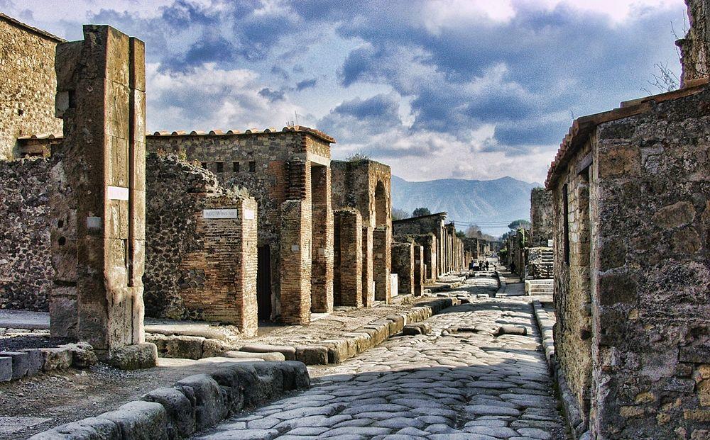 Scorcio del Parco archeologico di Pompei