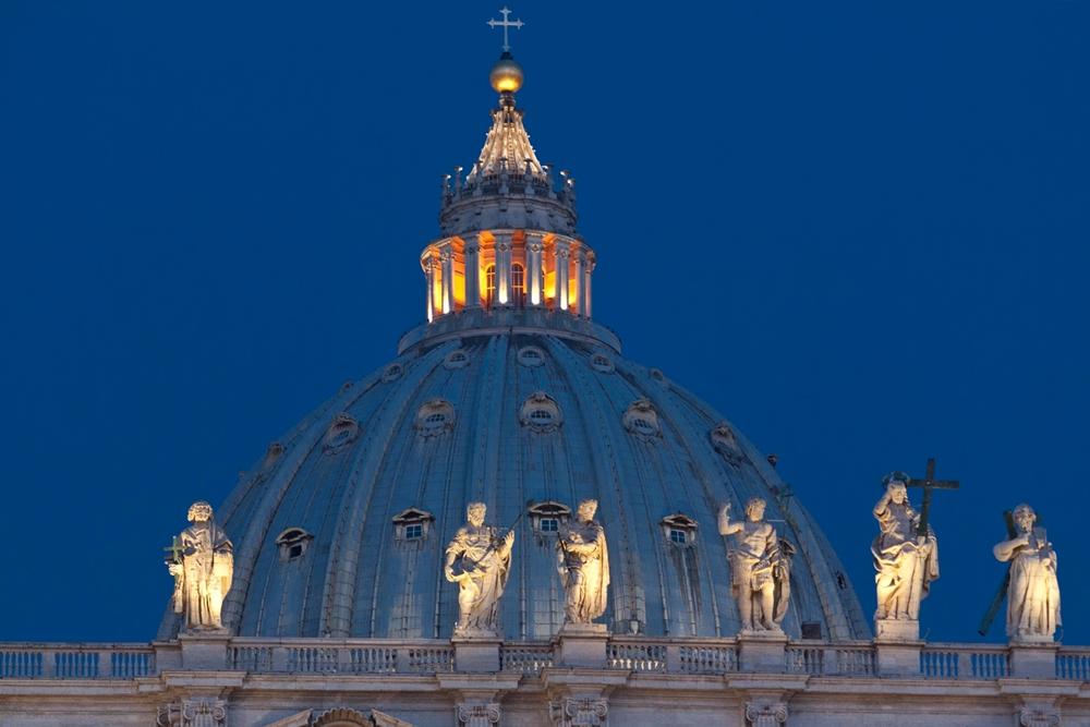 La cupola della Basilica di San Pietro, Roma. Per le sue travature fu impiegato il legno della Sila - Ph. Bernd Scheumann